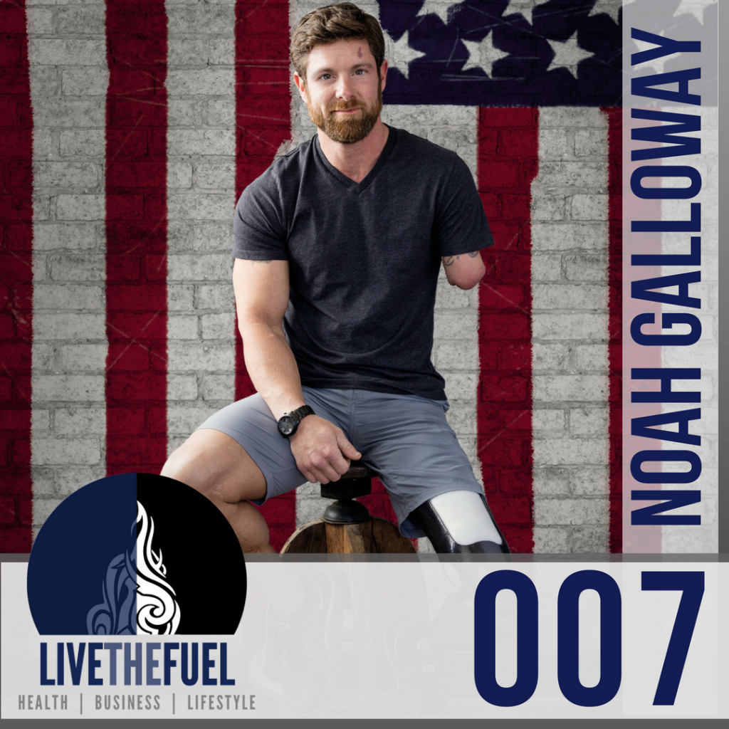 Episode-007-of-LIVETHEFUEL-Noah-Galloway-Living-With-No-Excuses-injured-veterans.-Injured Veterans
