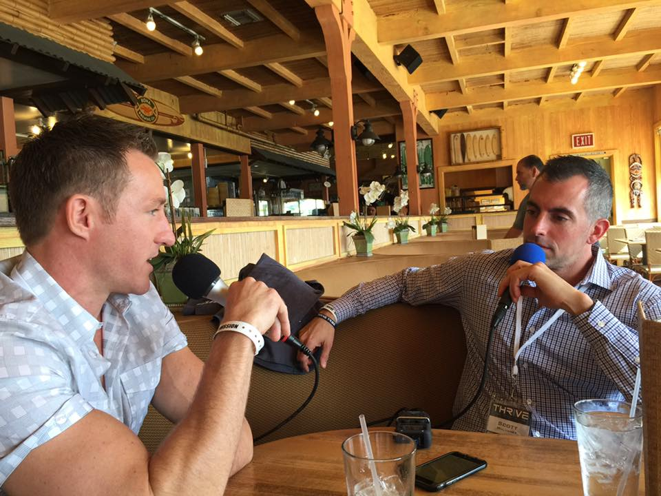 Scott Mulvaney and Luke Depron live at lunch for THRIVE 2016