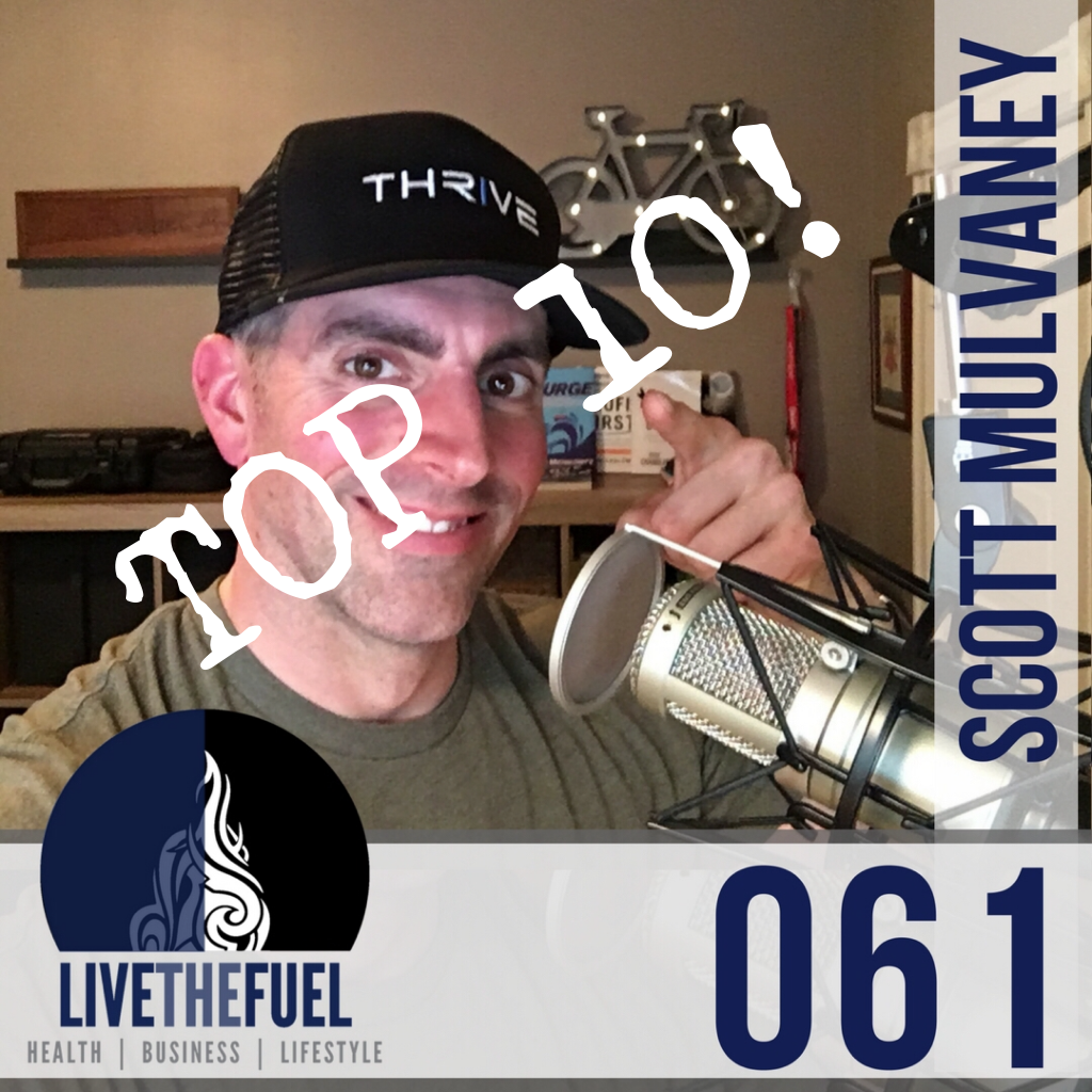 061 Scott Mulvaney Honoring Top 10 Highest Downloaded Podcast Episodes on LIVETHEFUEL