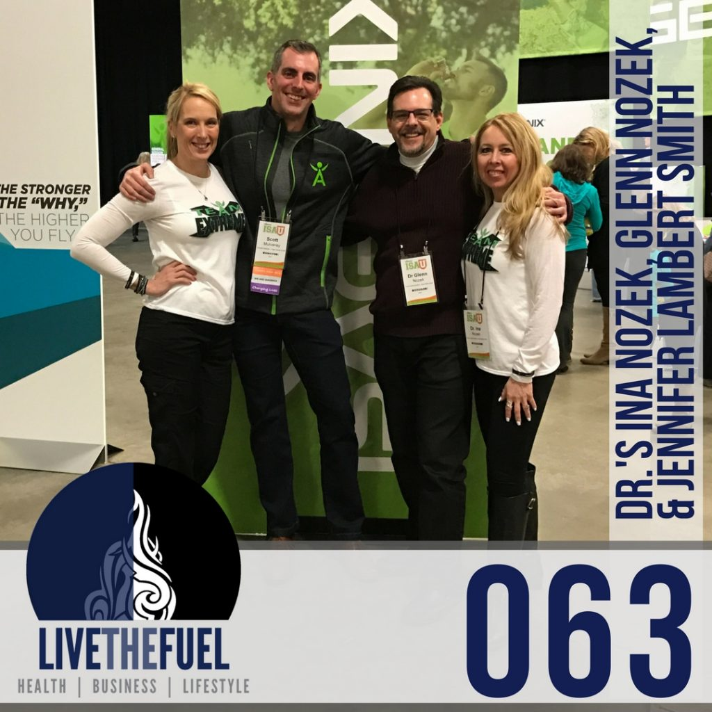 063 Live from Isagenix University Newark with Dr. Ina Nozek and Glenn Nozek with Jennifer Lambert Smith on LIVETHEFUEL