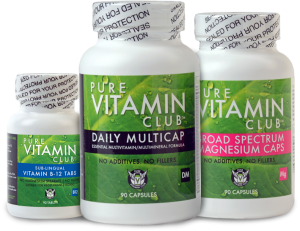 Pure Vitamin Club's B-12, Daily Multicap, and Broad Spectrum Magnesium on LIVETHEFUEL