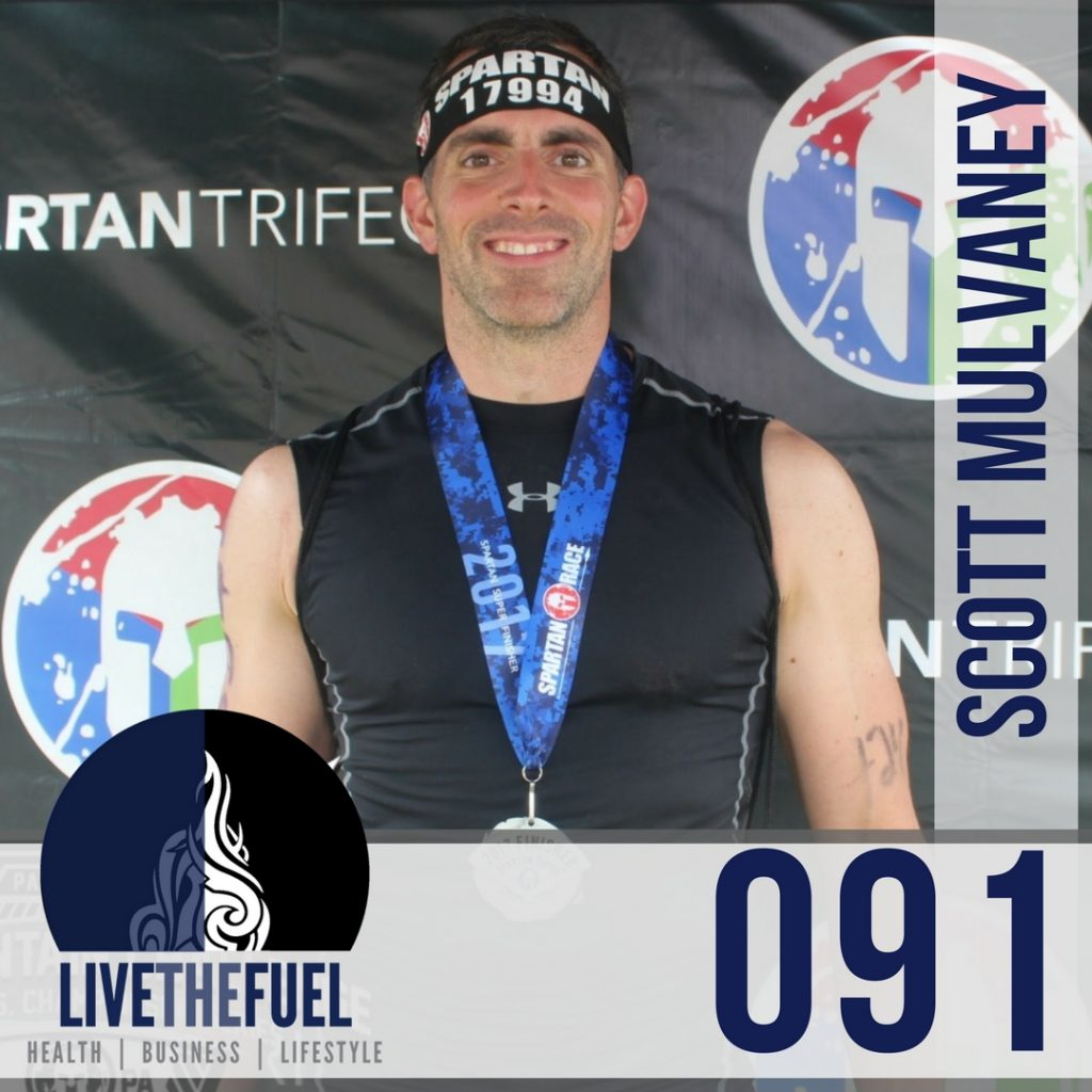 Episode 091 on Spartan Super Race Lessons and Training Tips with Scott Mulvaney of LIVETHEFUEL