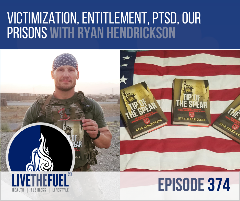 Victimization, Entitlement, PTSD, & Our Prisons with Tip of the Spear author, Ryan Hendrickson on LIVETHEFUEL